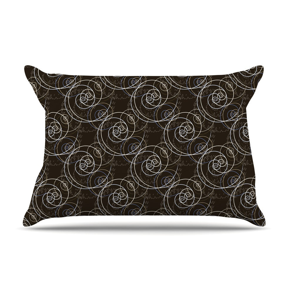 "Mydeas ""Nautical Breeze - Spiral Swirls"" Brown Pattern Pillow Sham - KESS InHouse"