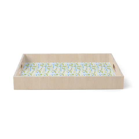 "Mydeas ""Dot Whimsy Pattern""  Birchwood Tray"