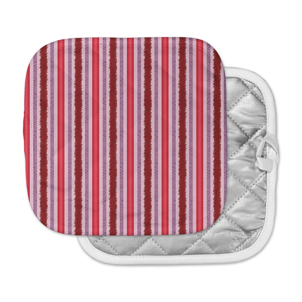 "Mydeas ""Scribbled Candy Stripes"" Pink Red Vector Pot Holder"