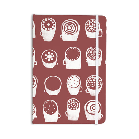 "Alik Arzoumanian ""Coffee Ring"" Maroon White Everything Notebook - KESS InHouse  - 1"
