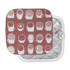"Alik Arzoumanian ""Coffee Ring"" Maroon White Pot Holder"