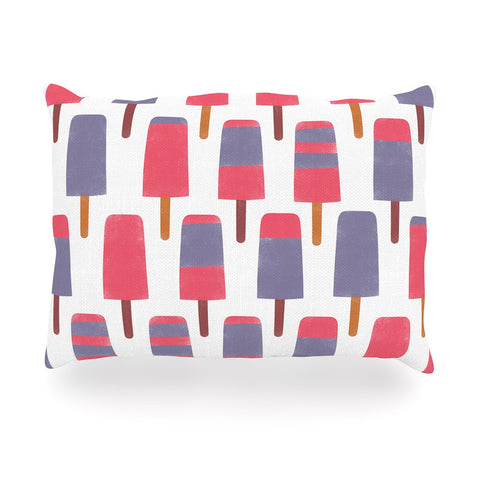 "Alik Arzoumanian ""Pop"" Pink Purple Oblong Pillow - KESS InHouse"