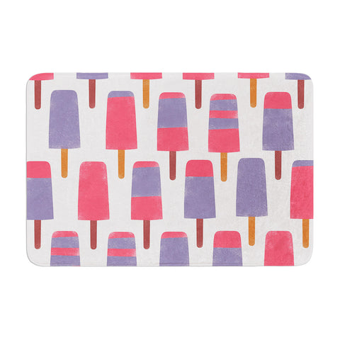 "Alik Arzoumanian ""Pop"" Pink Purple Memory Foam Bath Mat - KESS InHouse"