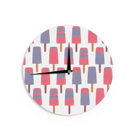 "Alik Arzoumanian ""Pop"" Pink Purple Wall Clock - KESS InHouse"