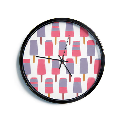 "Alik Arzoumanian ""Pop"" Pink Purple Modern Wall Clock"