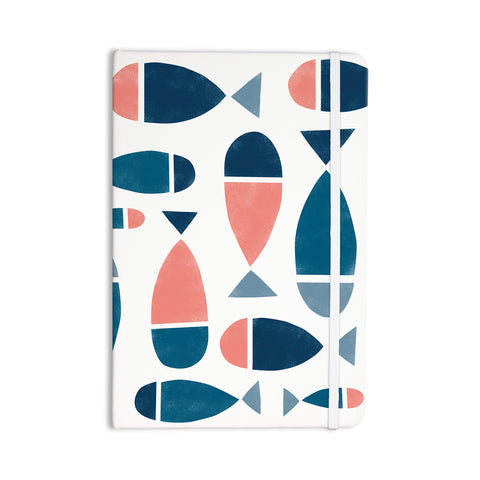 "Alik Arzoumanian ""Fish"" White Blue Everything Notebook - KESS InHouse  - 1"