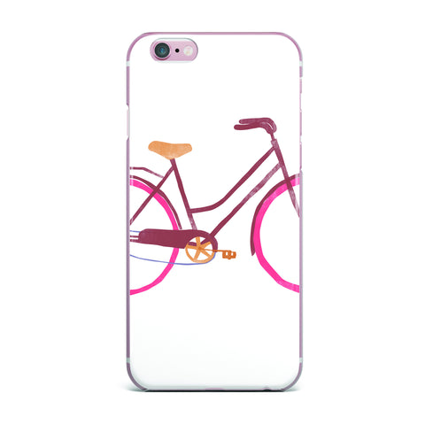 "Alik Arzoumanian ""Bike"" White Pink iPhone Case - KESS InHouse"