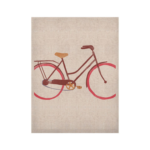 "Alik Arzoumanian ""Bike"" White Pink KESS Naturals Canvas (Frame not Included) - KESS InHouse  - 1"