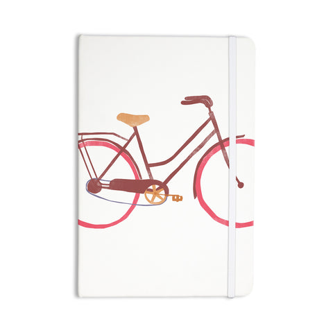"Alik Arzoumanian ""Bike"" White Pink Everything Notebook - KESS InHouse  - 1"
