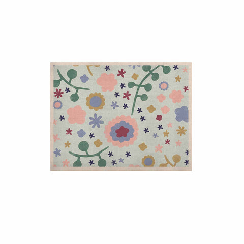 "Alik Arzoumanian ""Morning Flowers"" Pink Blue KESS Naturals Canvas (Frame not Included) - KESS InHouse  - 1"