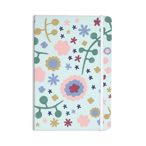 "Alik Arzoumanian ""Morning Flowers"" Pink Blue Everything Notebook - KESS InHouse  - 1"
