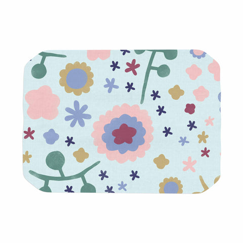 "Alik Arzoumanian ""Morning Flowers"" Pink Blue Place Mat - KESS InHouse"