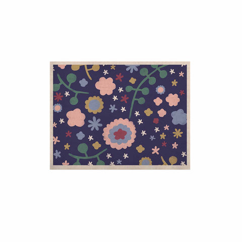 "Alik Arzoumanian ""Night Floral"" Blue Nature KESS Naturals Canvas (Frame not Included) - KESS InHouse  - 1"