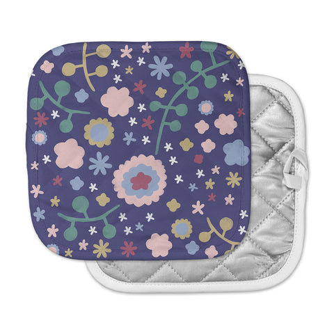 "Alik Arzoumanian ""Night Floral"" Blue Nature Pot Holder"