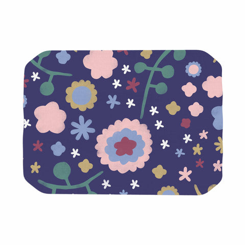 "Alik Arzoumanian ""Night Floral"" Blue Nature Place Mat - KESS InHouse"