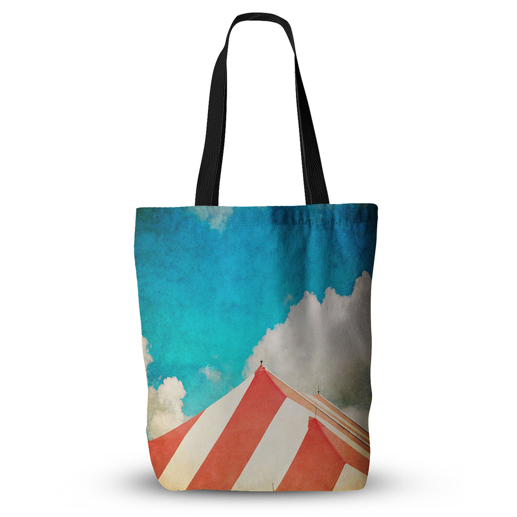 "Ann Barnes ""The Big Top"" Red Blue Everything Tote Bag - KESS InHouse  - 1"