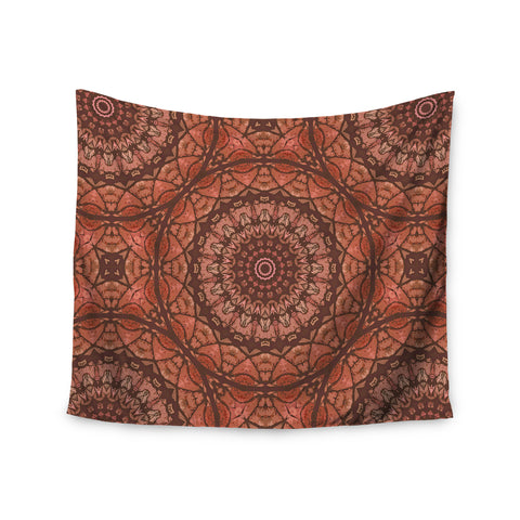 "Alison Coxon ""Autumn Mandala"" Tan Brown Digital Wall Tapestry - KESS InHouse  - 1"
