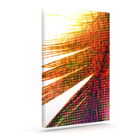 "Alison Coxon ""Feather Pop"" Outdoor Canvas Wall Art - KESS InHouse  - 1"