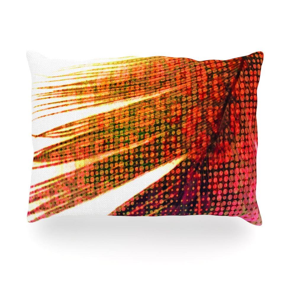 "Alison Coxon ""Feather Pop"" Oblong Pillow - KESS InHouse"