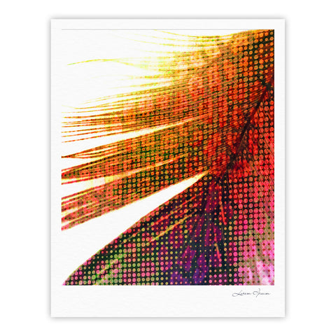 "Alison Coxon ""Feather Pop"" Fine Art Gallery Print - KESS InHouse"