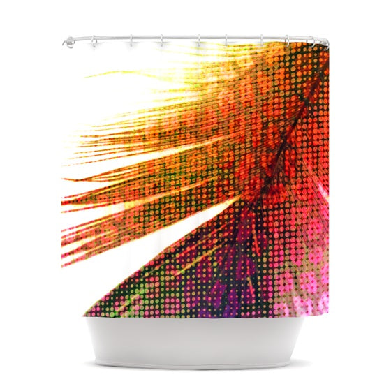 "Alison Coxon ""Feather Pop"" Shower Curtain - KESS InHouse"