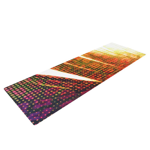 "Alison Coxon ""Feather Pop"" Yoga Mat - KESS InHouse  - 1"