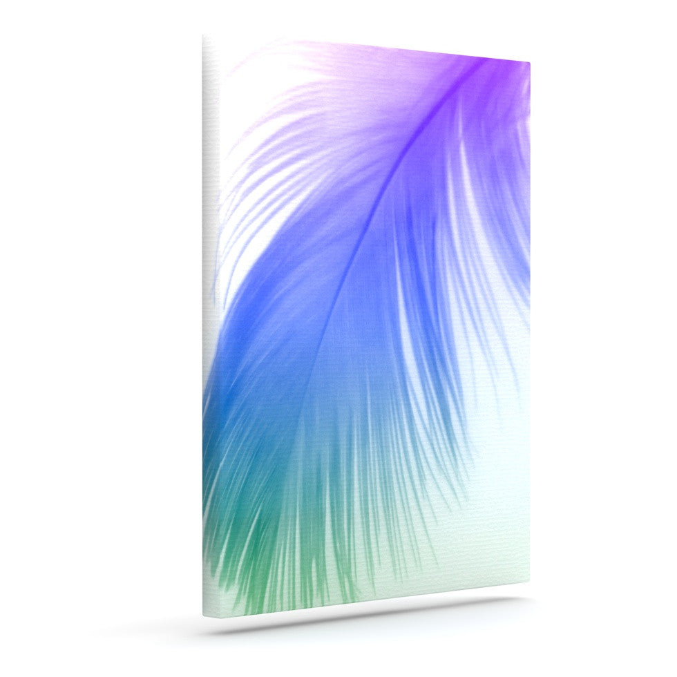 "Alison Coxon ""Feather Colour"" Outdoor Canvas Wall Art - KESS InHouse  - 1"