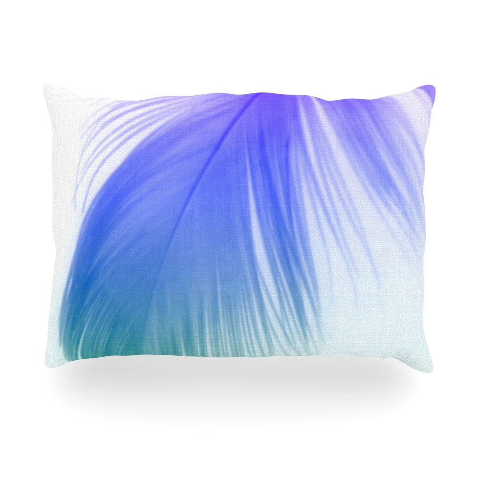 "Alison Coxon ""Feather Colour"" Oblong Pillow - KESS InHouse"