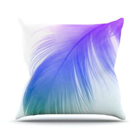 "Alison Coxon ""Feather Colour"" Outdoor Throw Pillow - KESS InHouse  - 1"