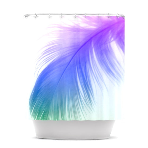 "Alison Coxon ""Feather Colour"" Shower Curtain - KESS InHouse"