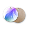 "Alison Coxon ""Feather Colour"" Round Wooden Cutting Board"