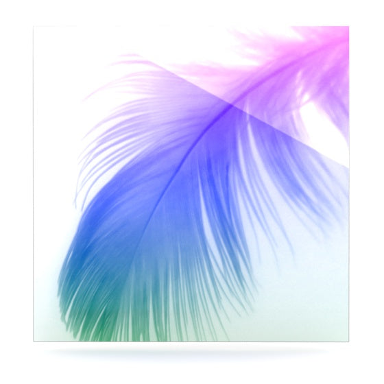 "Alison Coxon ""Feather Colour"" Luxe Square Panel - KESS InHouse  - 1"