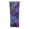 "Alison Coxon ""Floral Garden"" Decorative Sheer Curtain - KESS InHouse"