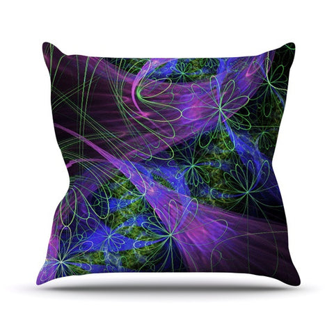 "Alison Coxon ""Floral Garden"" Outdoor Throw Pillow - KESS InHouse  - 1"