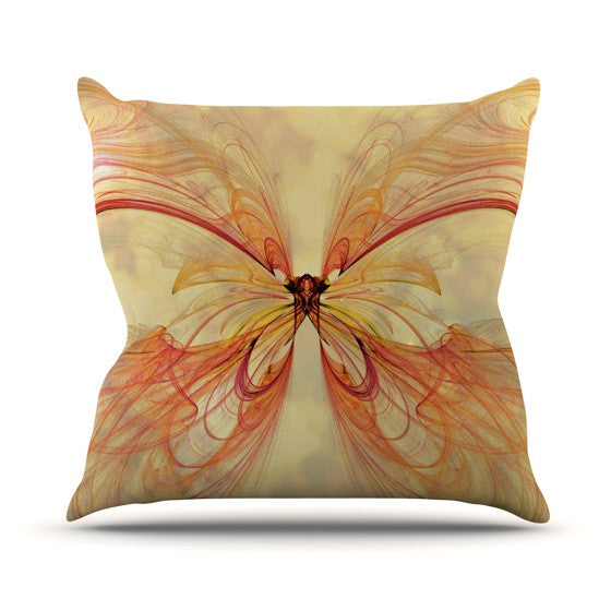 "Alison Coxon ""Papillon"" Outdoor Throw Pillow - KESS InHouse  - 1"