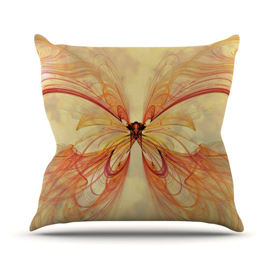 "Alison Coxon ""Papillon"" Throw Pillow - KESS InHouse  - 1"