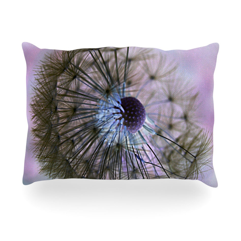 "Alison Coxon ""Dandelion Clock"" Oblong Pillow - KESS InHouse"