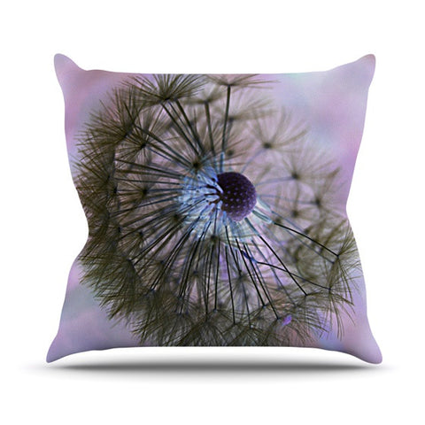 "Alison Coxon ""Dandelion Clock"" Outdoor Throw Pillow - KESS InHouse  - 1"