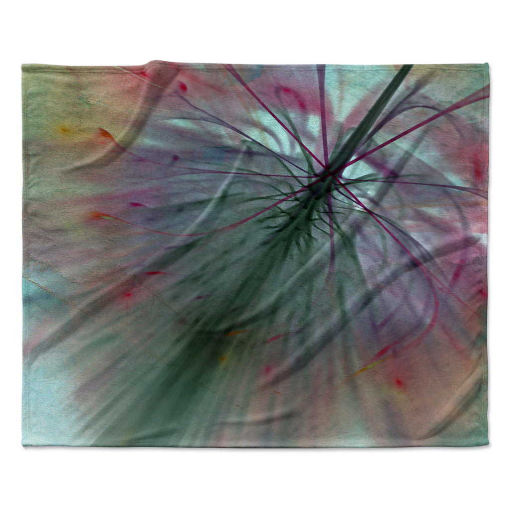 "Alison Coxon ""Fleur"" Fleece Throw Blanket"