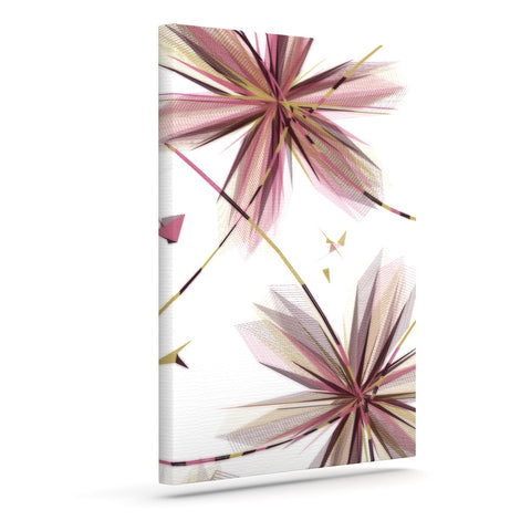 "Alison Coxon ""Flower Aubergine"" Outdoor Canvas Wall Art - KESS InHouse  - 1"