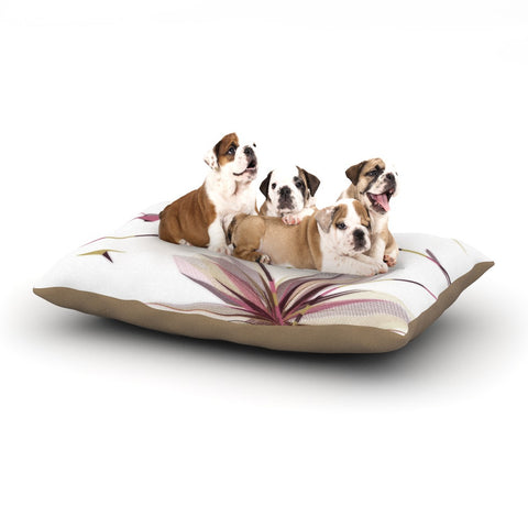 "Alison Coxon ""Flower Aubergine"" Dog Bed - KESS InHouse  - 1"