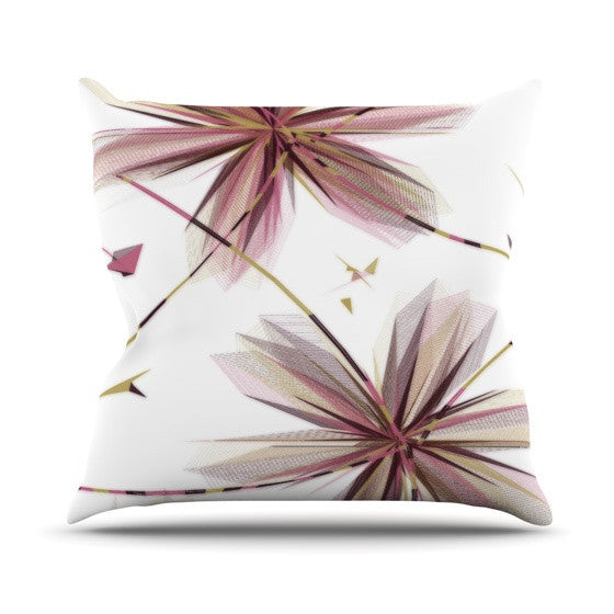 "Alison Coxon ""Flower Aubergine"" Outdoor Throw Pillow - KESS InHouse  - 1"