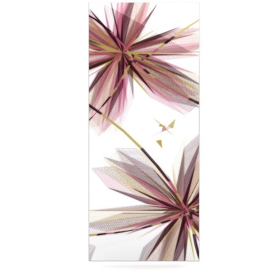 "Alison Coxon ""Flower Aubergine"" Luxe Rectangle Panel - KESS InHouse  - 1"