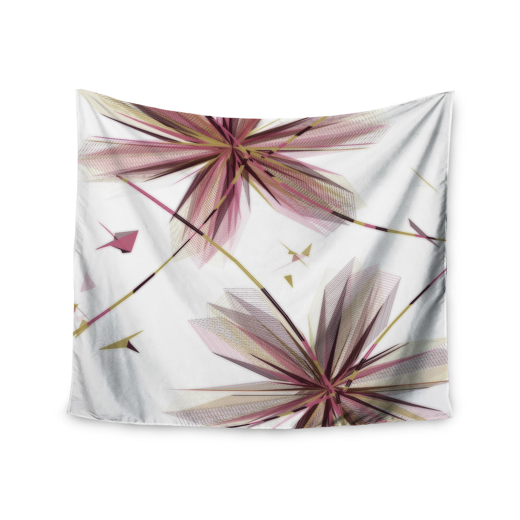 "Alison Coxon ""Flower Aubergine"" Wall Tapestry - KESS InHouse  - 1"