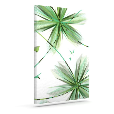 "Alison Coxon ""Flower Teal"" Outdoor Canvas Wall Art - KESS InHouse  - 1"