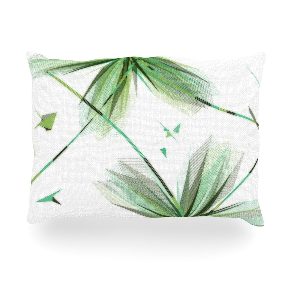 "Alison Coxon ""Flower Teal"" Oblong Pillow - KESS InHouse"