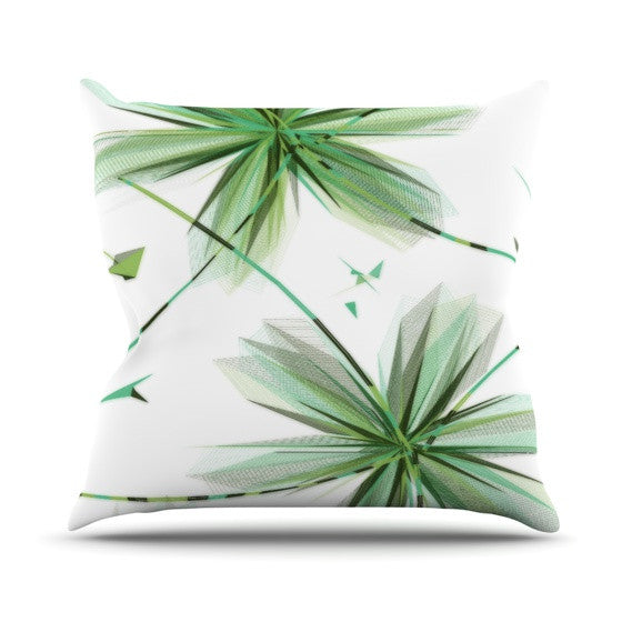"Alison Coxon ""Flower Teal"" Throw Pillow - KESS InHouse"