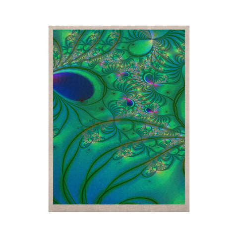 "Alison Coxon ""Fractal Turquoise"" KESS Naturals Canvas (Frame not Included) - KESS InHouse  - 1"