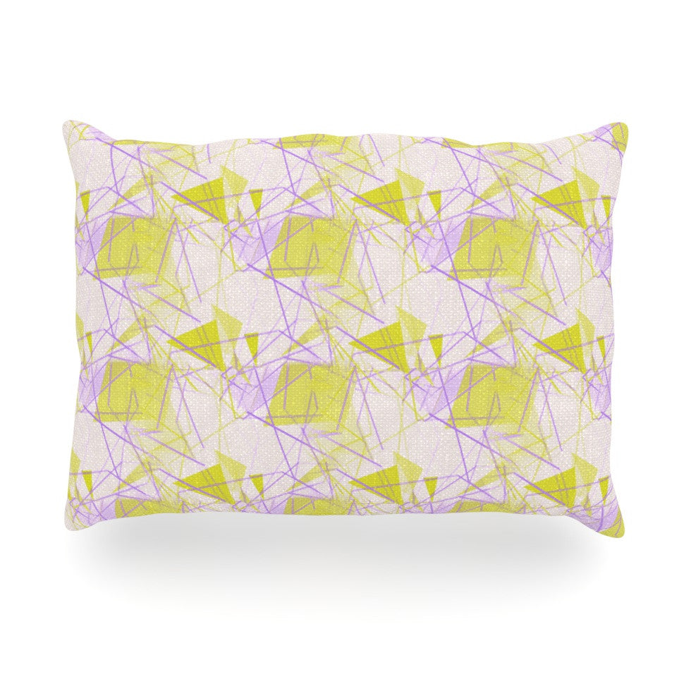 "Alison Coxon ""Yellow"" Oblong Pillow - KESS InHouse"