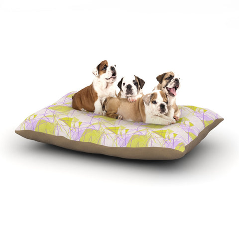 "Alison Coxon ""Yellow"" Dog Bed - KESS InHouse  - 1"